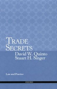 Ebook in inglese Trade Secrets: Law and Practice Quinto, David , Singer, Stuart
