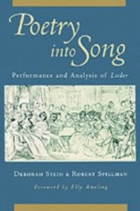 Foto Cover di Poetry into Song: Performance and Analysis of Lieder, Ebook inglese di Robert Spillman,Deborah Stein, edito da Oxford University Press