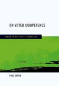 Ebook in inglese On Voter Competence Goren, Paul