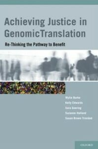 Ebook in inglese Achieving Justice in Genomic Translation: Re-Thinking the Pathway to Benefit -, -