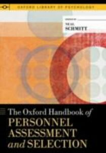 Foto Cover di Oxford Handbook of Personnel Assessment and Selection, Ebook inglese di  edito da Oxford University Press