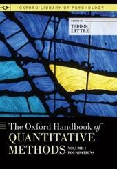 Oxford Handbook of Quantitative Methods, Volume 1: Foundations