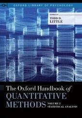 Oxford Handbook of Quantitative Methods, Vol. 2: Statistical Analysis