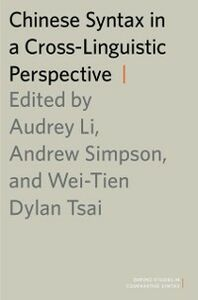 Ebook in inglese Chinese Syntax in a Cross-Linguistic Perspective Tsai, Wei-Tien Dylan