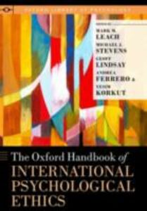 Ebook in inglese Oxford Handbook of International Psychological Ethics -, -