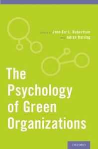 Ebook in inglese Psychology of Green Organizations