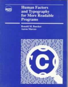 Human Factors and Typography for More Readable Programs - Ronald M. Baecker,Aaron Marcus - cover