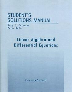 Student Solutions Manual for Linear Algebra and Differential Equations - Gary L. Peterson - cover