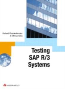 SAP R/3 Testing with CATT - Gerhard Oberniedermaier,Marcus Geiss - cover