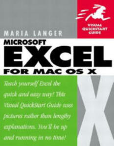 Excel X for Mac OS X: Visual QuickStart Guide - Maria L. Langer - cover
