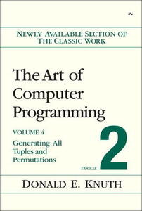 The Art of Computer Programming, Volume 4, Fascicle 2: Generating All Tuples and Permutations - Donald E. Knuth - cover