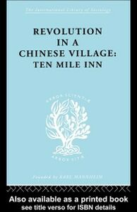 Ebook in inglese Revolution in a Chinese Village Crook, David , Crook, Isabel