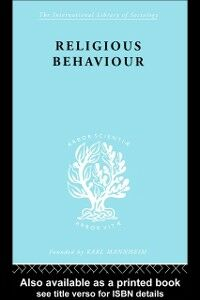 Ebook in inglese Religious Behaviour Argyle, Michael