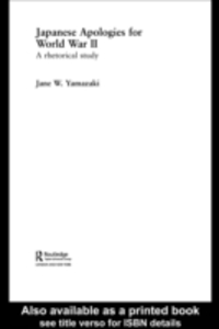 Ebook in inglese Japanese Apologies for World War II Yamazaki, Jane