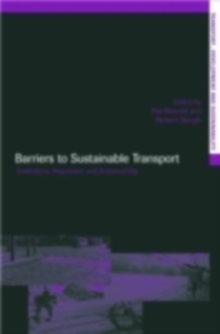 Ebook in inglese Barriers to Sustainable Transport -, -