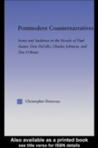Ebook in inglese Postmodern Counternarratives Donovan, Christopher