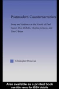 Ebook in inglese Postmodern Counternarratives Donovan, Christopher