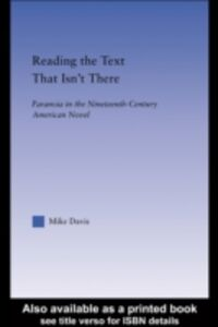 Foto Cover di Reading the Text That Isn't There, Ebook inglese di Mike Davis, edito da Taylor and Francis