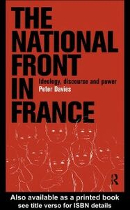 Foto Cover di National Front in France, Ebook inglese di Peter Davies, edito da Taylor and Francis