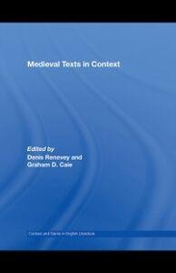 Foto Cover di Medieval Texts in Context, Ebook inglese di  edito da Taylor and Francis