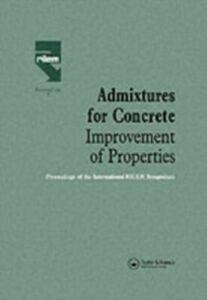 Foto Cover di Admixtures for Concrete - Improvement of Properties, Ebook inglese di  edito da Taylor and Francis