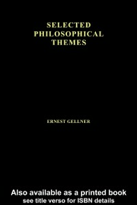 Ebook in inglese Contemporary Thought and Politics Gellner, Ernest