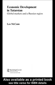 Ebook in inglese Economic Development in Tatarstan McCann, Leo