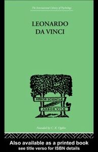 Foto Cover di Leonardo da Vinci, Ebook inglese di Sigmund Freud, edito da Taylor and Francis