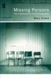 Foto Cover di Missing Persons, Ebook inglese di Mary Evans, edito da Taylor and Francis