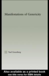 Ebook in inglese Manifestations of Genericity Greenberg, Yael