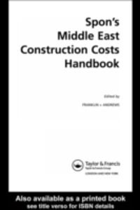 Ebook in inglese Spon's Middle East Construction Costs Handbook, Second Edition Frankli, ranklin