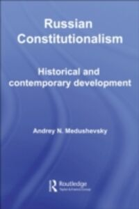 Ebook in inglese Russian Constitutionalism Medushevsky, Andrei