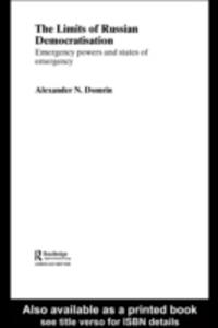 Ebook in inglese Limits of Russian Democratisation Domrin, Alexander