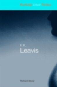 Ebook in inglese F.R. Leavis Storer, Richard