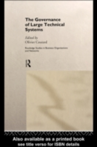 Ebook in inglese Governance of Large Technical Systems -, -