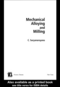 Ebook in inglese Mechanical Alloying And Milling Suryanarayana, Cury