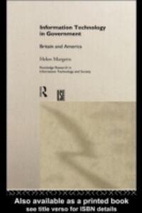 Ebook in inglese Information Technology in Government Margetts, Helen