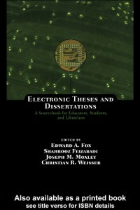 Ebook in inglese Electronic Theses and Dissertations -, -