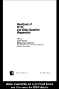 Foto Cover di Handbook of MTBE and Other Gasoline Oxygenates, Ebook inglese di  edito da CRC Press