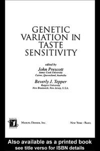 Ebook in inglese Genetic Variation in Taste Sensitivity -, -