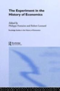 Ebook in inglese Experiment in the History of Economics -, -