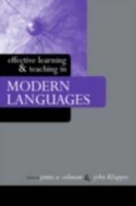 Ebook in inglese Effective Learning and Teaching in Modern Languages