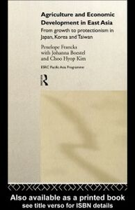 Foto Cover di Agriculture and Economic Development in East Asia, Ebook inglese di AA.VV edito da Taylor and Francis