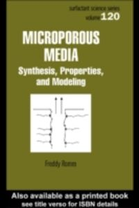 Foto Cover di Microporous Media, Ebook inglese di Freddy Romm, edito da CRC Press