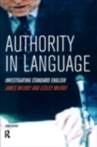 Ebook in inglese Authority in Language Milroy, Lesley