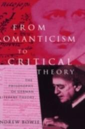 From Romanticism to Critical Theory