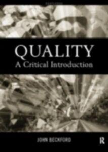 Foto Cover di Quality, Ebook inglese di John Beckford, edito da Taylor and Francis