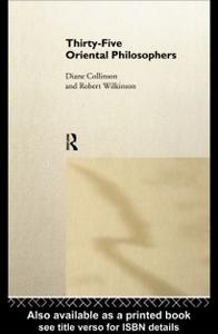 Ebook in inglese Thirty-Five Oriental Philosophers Collinson, Diane , Wilkinson, Dr Robert , Wilkinson, Robert