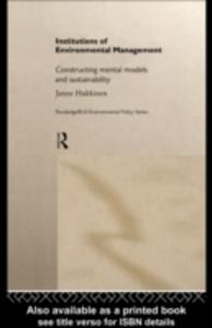Ebook in inglese Institutions in Environmental Management Hukkinen, Janne