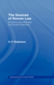 Ebook in inglese Sources of Roman Law Robinson, O. F.